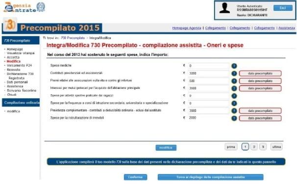 730 precompilato come integrare la dichiarazione ipsoa for 730 dichiarazione