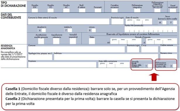Modello Redditi 2018 Pf Domicilio Fiscale E Casi Particolari Ipsoa