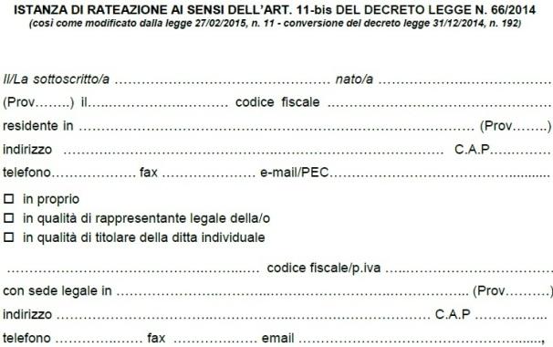 Equitalia rateazioni bis come compilare la domanda ipsoa for Codice fiscale da stampare